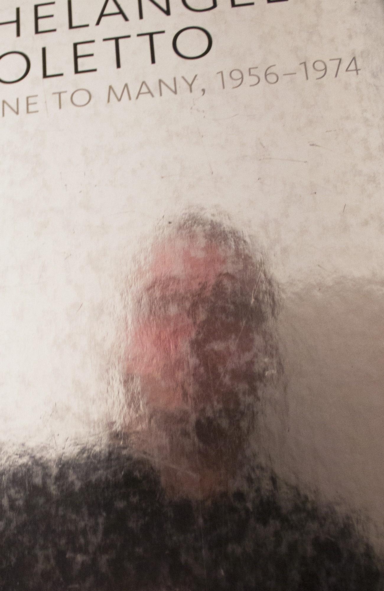 Steve Giasson. Performance invisible n° 82 (Douter de tout). Carlos Basualdo (dir. publ.). Michelangelo Pistoletto: From one to Many, 1956-1974. Philadelphia : Publishing Department of the Philadelphia Museum of Art. 2010. Performeur : Steve Giasson. Crédit photographique : Steve Giasson et Martin Vinette. 16 février 2016.